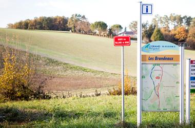 Photo du plan de la zone d'activités des Brandeaux à Coursac