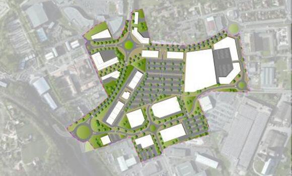 Plan du périmètre d'étude de la zone d'Epicentre -Boulazac Isle Manoire