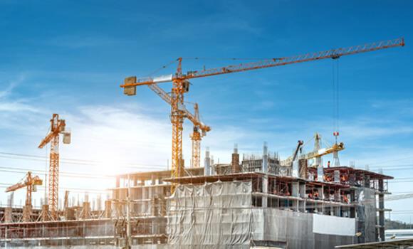Chantier d'immeubles en construction
