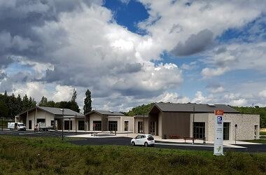parc d'activités Diamant Noir en construction sur la commune de Sorges et Ligueux en Périgord