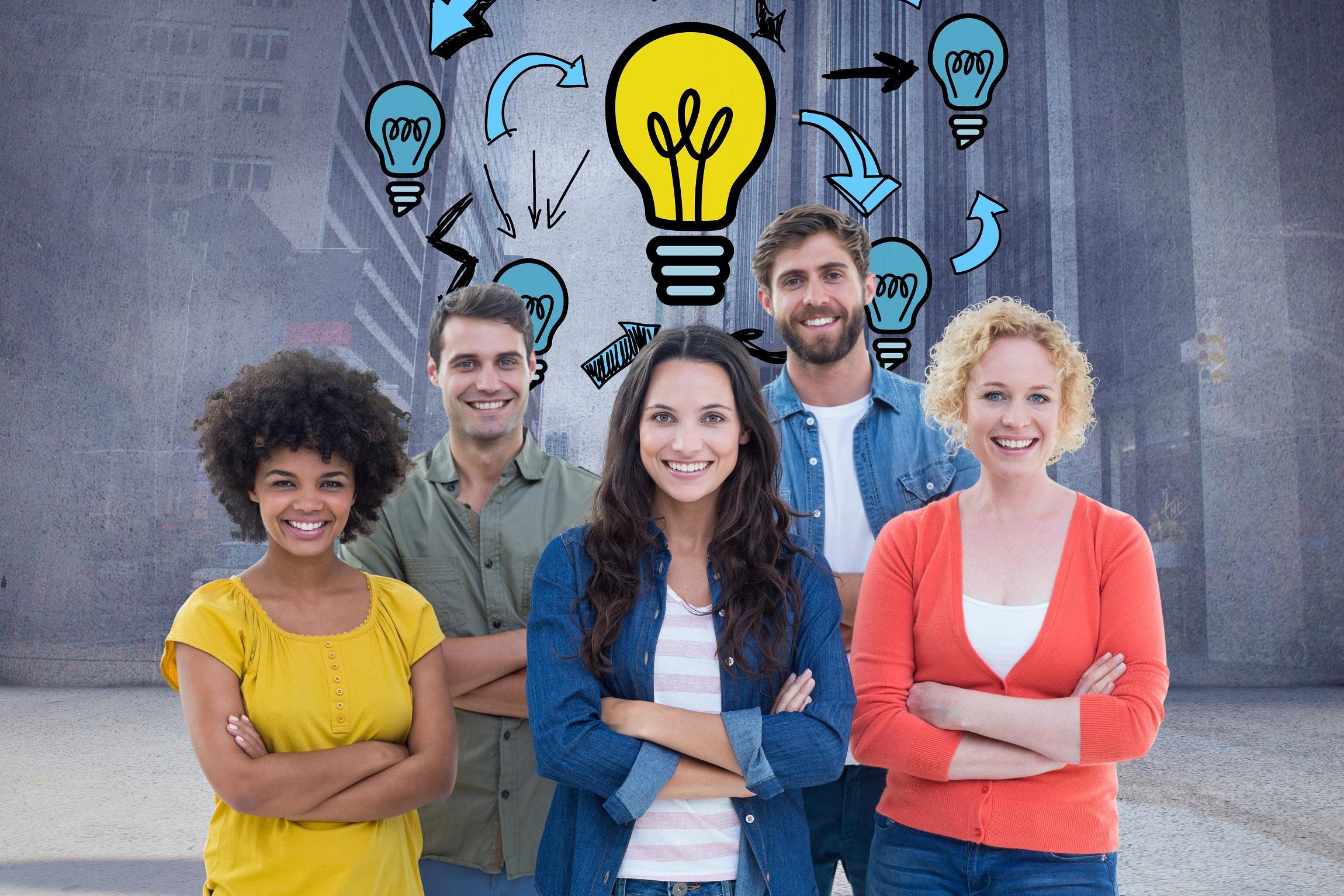 des femmes et des hommes ayant un projet de création d'entreprise